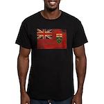 Ontario Flag Men's Fitted T-Shirt (dark)