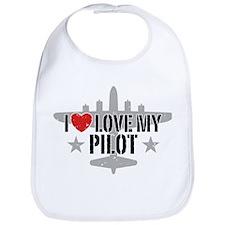 I Love My Pilot Bib