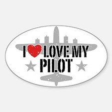 I Love My Pilot Decal