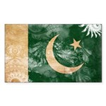 Pakistan Flag Sticker (Rectangle 10 pk)
