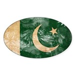 Pakistan Flag Sticker (Oval 10 pk)