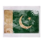 Pakistan Flag Throw Blanket