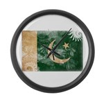 Pakistan Flag Large Wall Clock