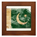 Pakistan Flag Framed Tile