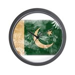 Pakistan Flag Wall Clock