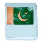 Pakistan Flag baby blanket