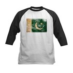 Pakistan Flag Kids Baseball Jersey