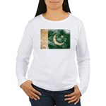 Pakistan Flag Women's Long Sleeve T-Shirt