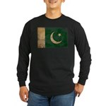 Pakistan Flag Long Sleeve Dark T-Shirt