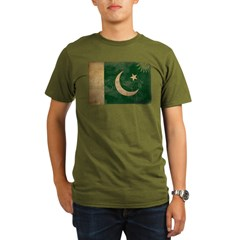Pakistan Flag Organic Men's T-Shirt (dark)