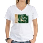 Pakistan Flag Women's V-Neck T-Shirt