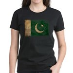 Pakistan Flag Women's Dark T-Shirt