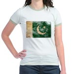 Pakistan Flag Jr. Ringer T-Shirt