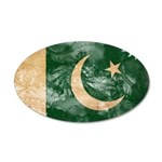 Pakistan Flag 38.5 x 24.5 Oval Wall Peel