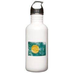 Palau Flag Water Bottle
