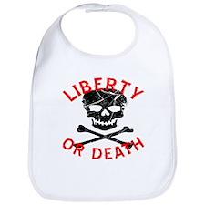 Liberty Or Death Skull Bib