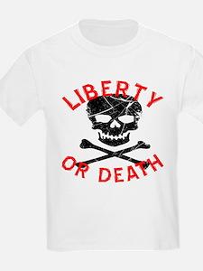 Liberty Or Death Skull T-Shirt