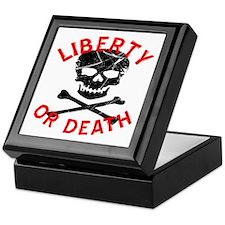 Liberty Or Death Skull Keepsake Box