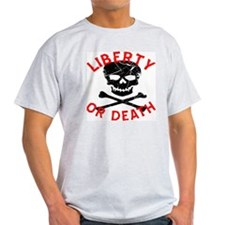 Liberty Or Death Skull T-Shirt