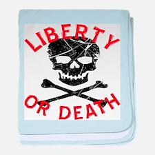 Liberty Or Death Skull baby blanket