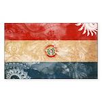 Paraguay Flag Sticker (Rectangle 50 pk)