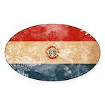 Paraguay Flag Sticker (Oval 10 pk)