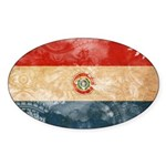 Paraguay Flag Sticker (Oval)