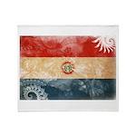 Paraguay Flag Throw Blanket