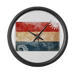 Paraguay Flag Large Wall Clock