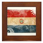 Paraguay Flag Framed Tile