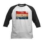 Paraguay Flag Kids Baseball Jersey