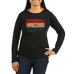 Paraguay Flag Women's Long Sleeve Dark T-Shirt