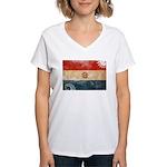 Paraguay Flag Women's V-Neck T-Shirt