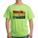 Paraguay Flag Green T-Shirt