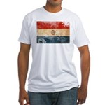 Paraguay Flag Fitted T-Shirt