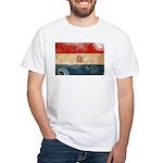 Paraguay Flag White T-Shirt
