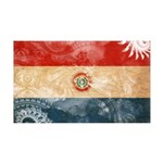 Paraguay Flag 38.5 x 24.5 Wall Peel