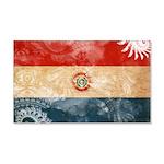 Paraguay Flag 22x14 Wall Peel