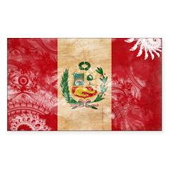 Peru Flag Decal
