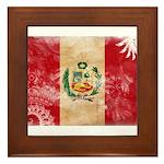 Peru Flag Framed Tile