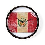 Peru Flag Wall Clock