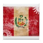 Peru Flag Tile Coaster