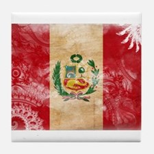 Peru Flag Tile Coaster