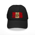 Peru Flag Black Cap