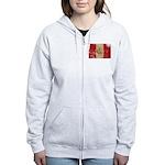 Peru Flag Women's Zip Hoodie