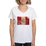 Peru Flag Women's V-Neck T-Shirt