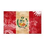 Peru Flag 38.5 x 24.5 Wall Peel