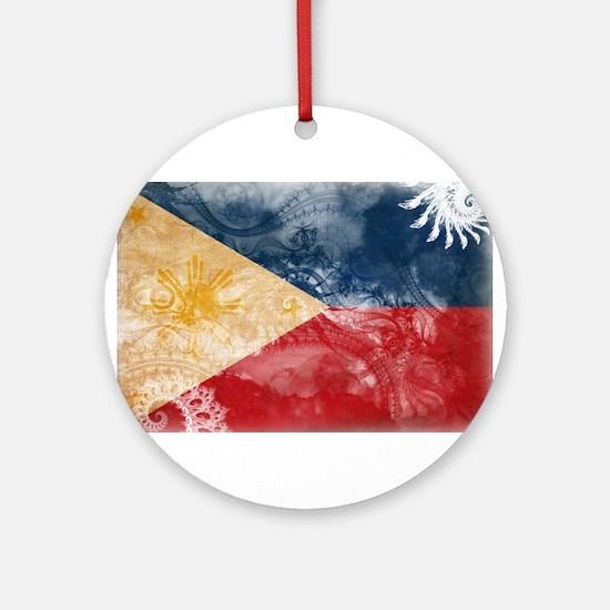 Philippines Flag Ornament (Round)