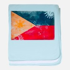 Philippines Flag baby blanket