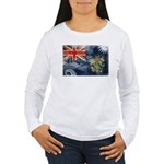 Pitcairn Islands Flag Women's Long Sleeve T-Shirt